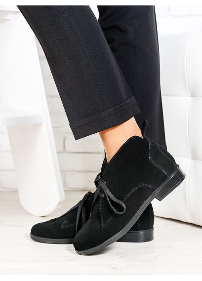 Ботинки Gretta черна замша 6659-28