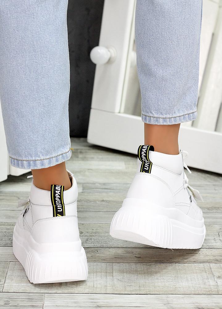 Ботинки белые кожаные Euphoria 7475-28