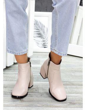 Ботинки пудра шкіра Brandi 7505-28