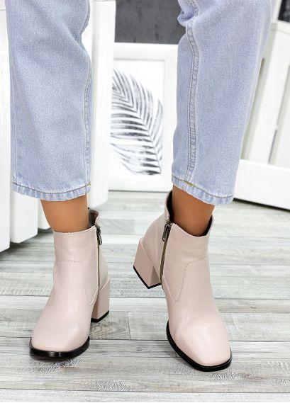 Ботинки пудра кожа Brandi 7505-28