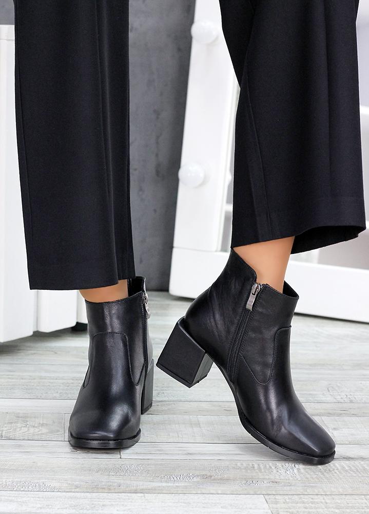 Ботинки черная кожа Brandi 7515-28