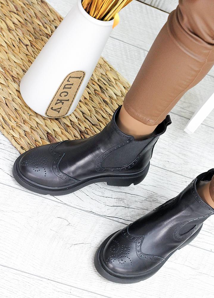 Ботинки Челси кожаные 7562-28