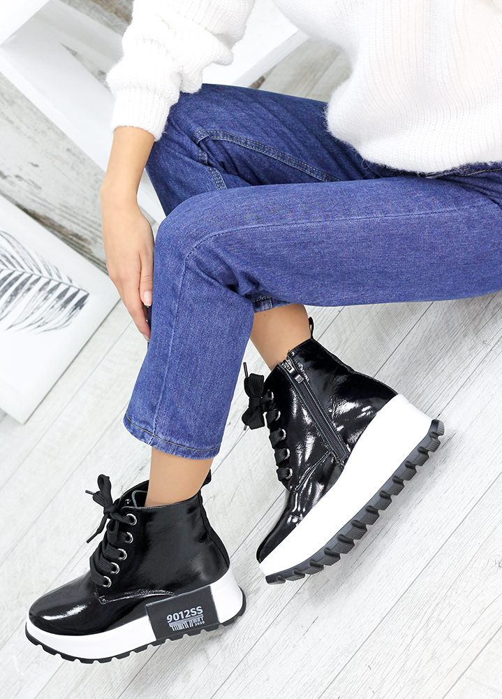 Ботинки женские лак-кожа 7589-28