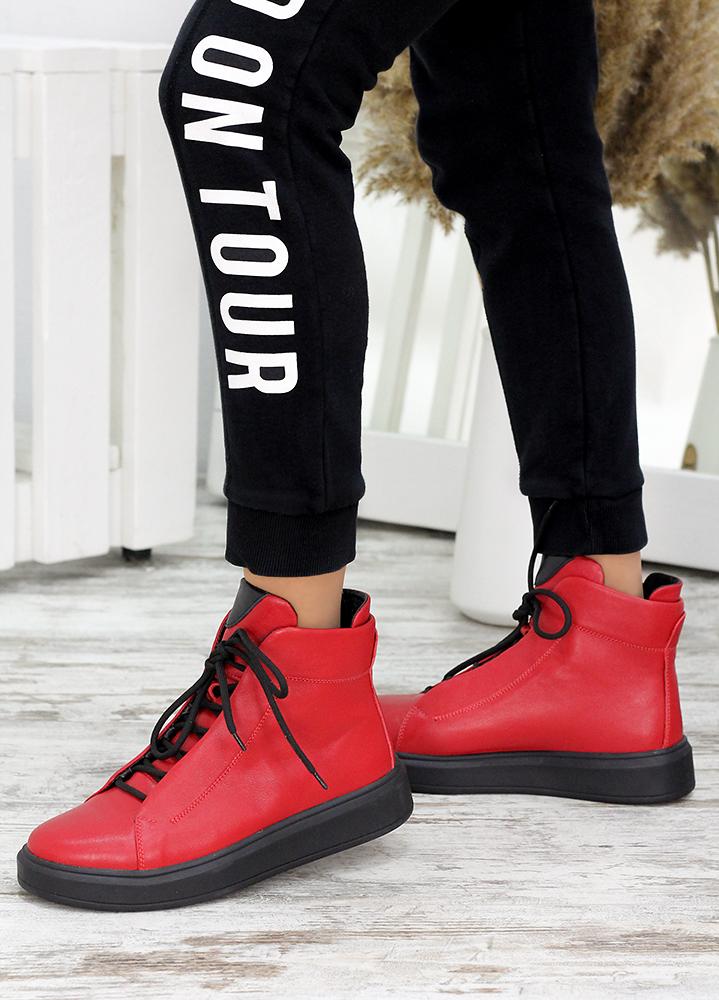 Ботинки красная кожа Ultimatum 7667-28