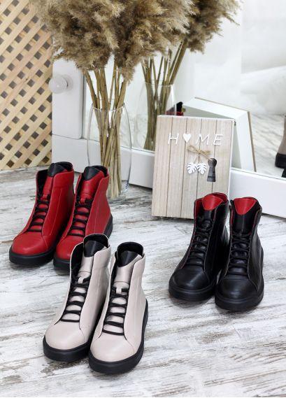 Ботинки чорна шкіра Ultimatum 7698-28