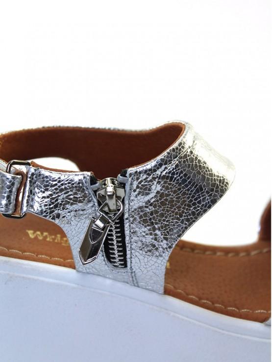 Босоножки Serebro серебряные 5739-28