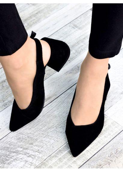 Туфлі чорна замша Molly 7321-28