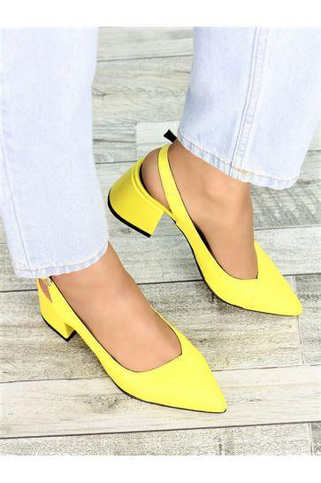 Туфли желтая кожа Molly 7408-28