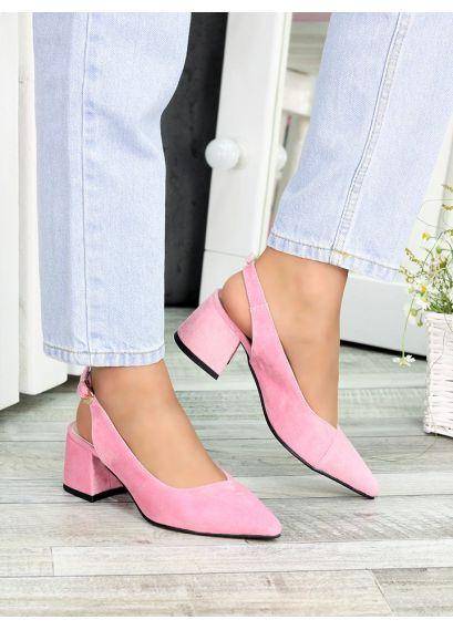 Туфлі рожева замша Molly 7410-28