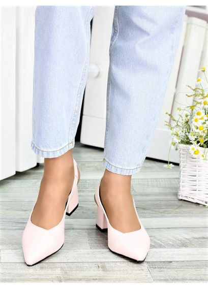 Туфлі пудра шкіра Molly 7412-28