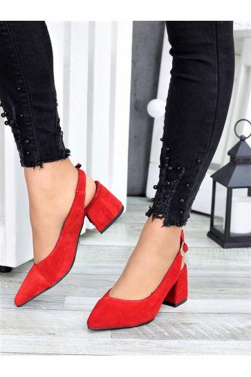 Туфли красная замша Molly 7415-28