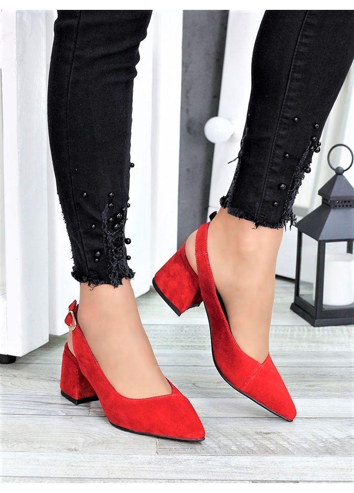 Туфлі червона замша Molly 7415-28