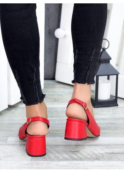 Туфлі червона шкіра Molly 7417-28