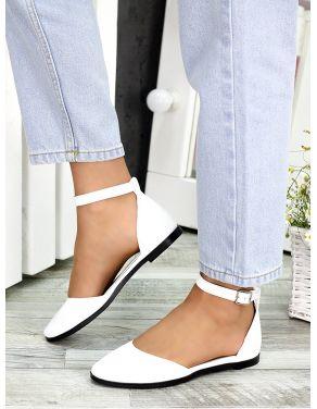 Туфлі Аліса біла шкіра 7418-28