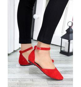 Туфлі Аліса червона замша 7421-28