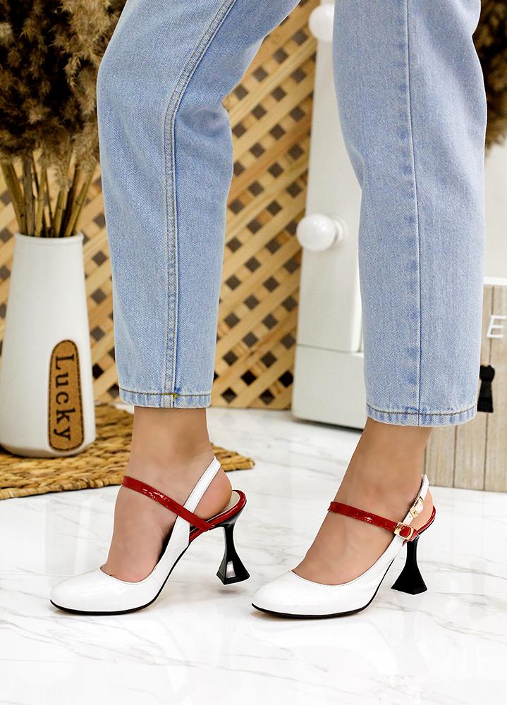 Туфли босоножки лак кожа 7751-28