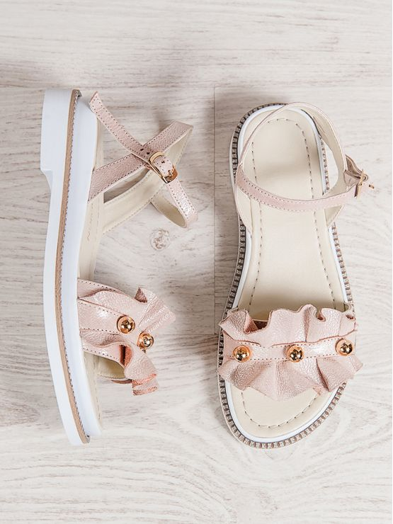 Босоножки Businka пудра 7051-28