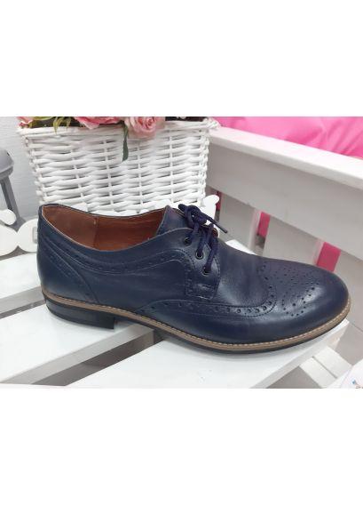 Чоловічі туфлі Оксфорди сині 7196-28