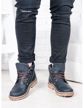 Чорні чоловічі черевики 6814-28