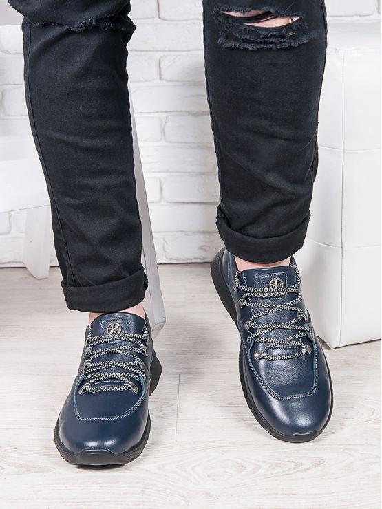 Мужские кожаные кроссовки 6909-28