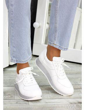 Кросівки шкіряні білі Лола 6919-28