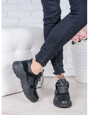 Кросівки шкіра Balenc!аga чорні 6996-28