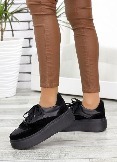 Кросівки шкіряні чорні 7637-28