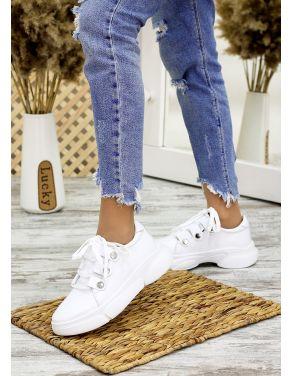 Кросівки шкіряні білі 7703-28