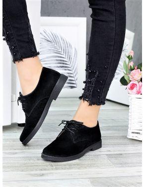 Туфлі натуральна замша шнурки 6364-28