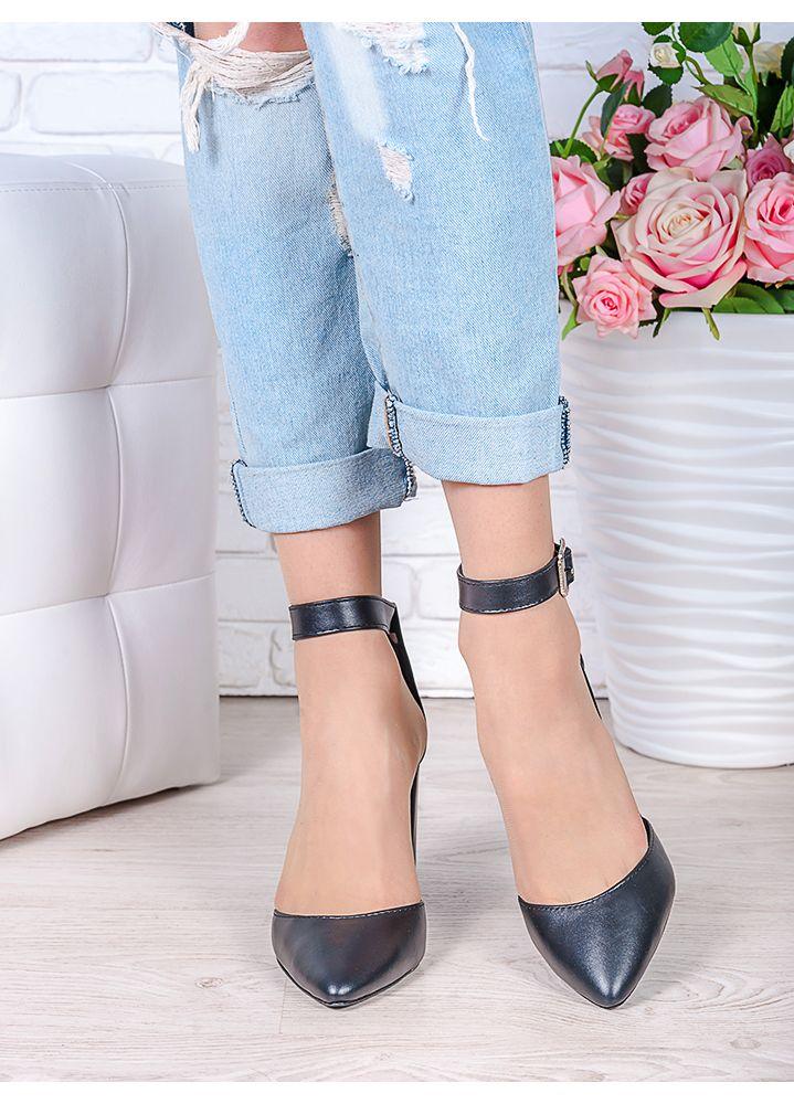 Туфли Bogemiya черная кожа 6393-28