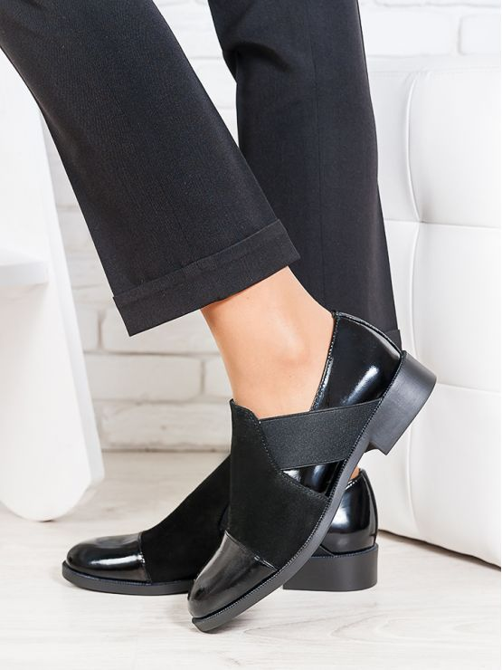Туфли Classik замша + лак 6675-28
