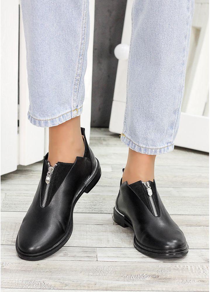 Туфли черная кожа Nikki 6965-28