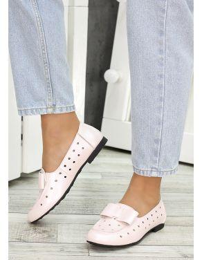 Туфлі пудра шкіряні Bant (літо) 7037-28