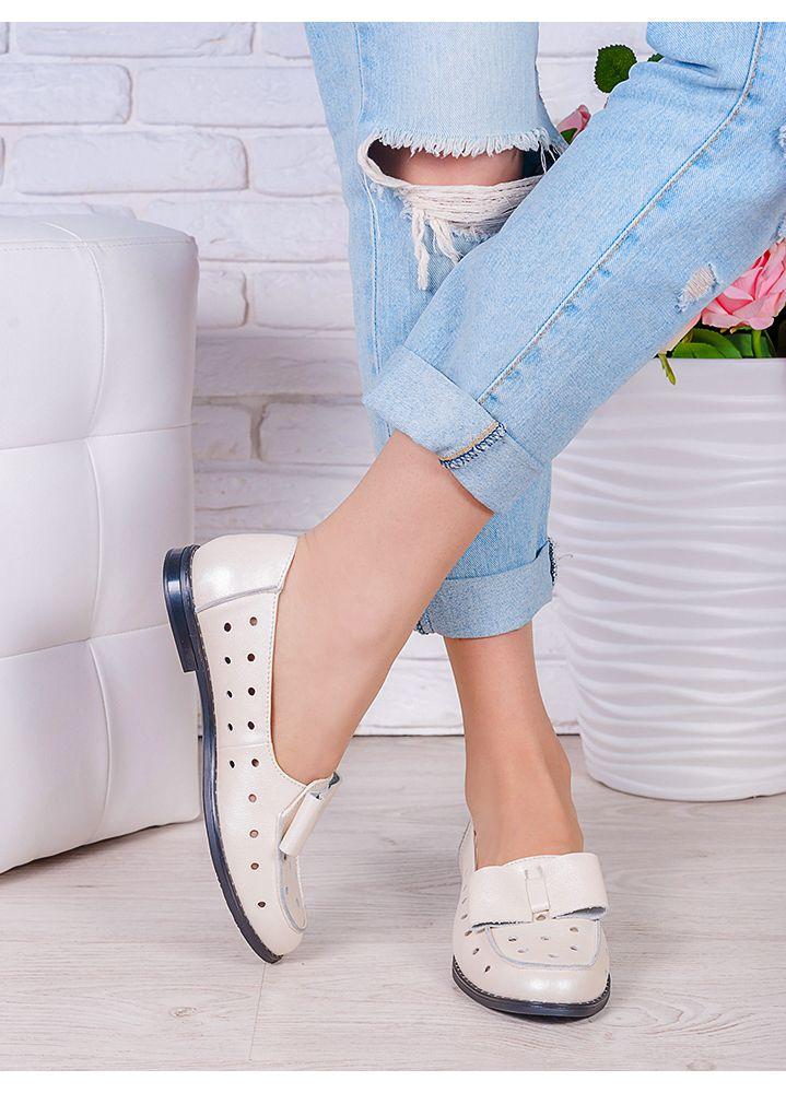 Туфлі шампань шкіряні Bant (літо) 7041-28