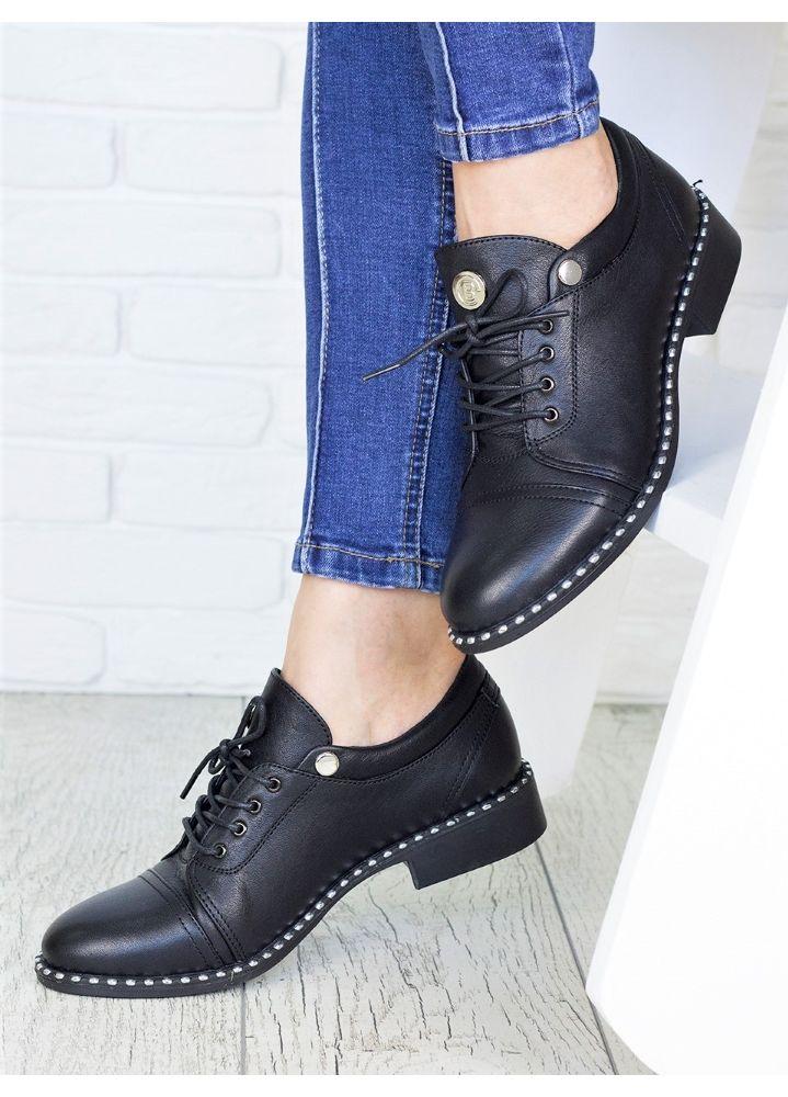 Туфлі чорні шкіряні 7145-28