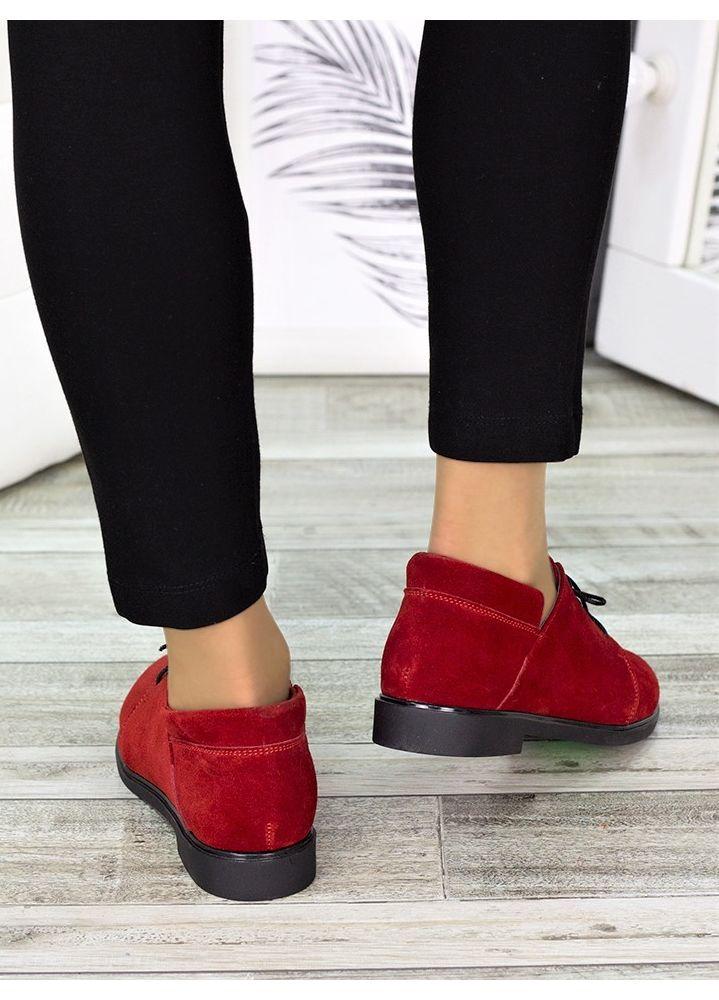 Туфлі червоні замшеві 7258-28