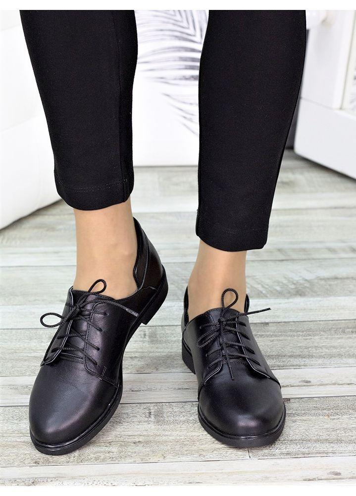 Туфлі чорні шкіряні 7265-28
