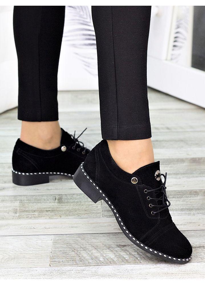Туфли черные замшевые 7271-28