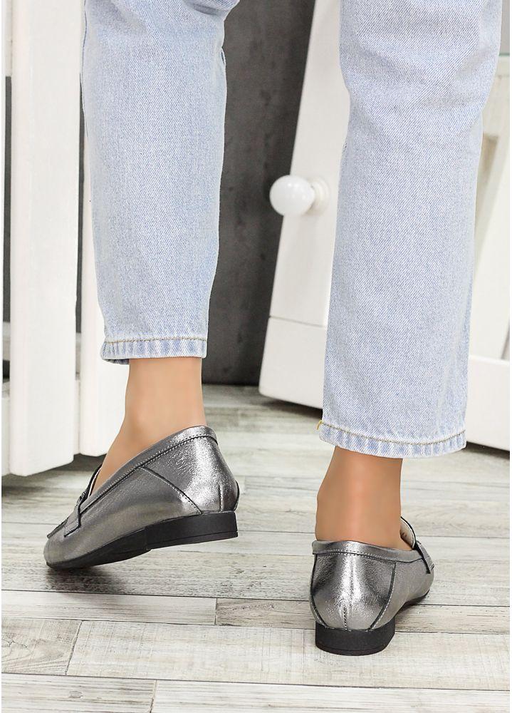 Туфли кожаные сатин Пегги 7277-28