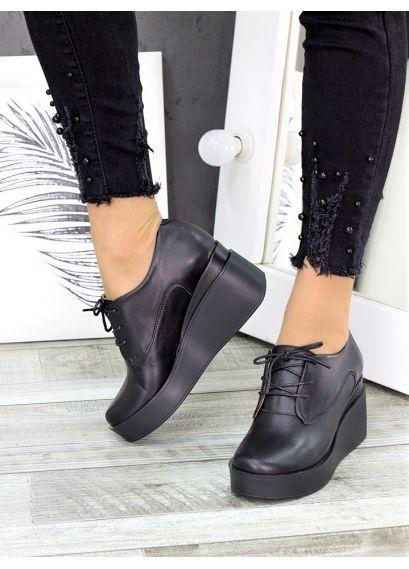 Туфлі шкіряні на платформі 7282-28