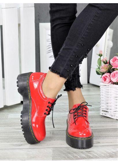 Туфлі броги MART!INS червоні 7284-28