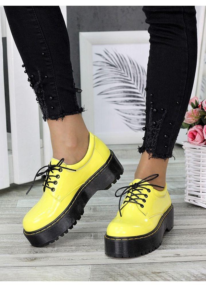 Туфли броги MART!INS желтые 7285-28