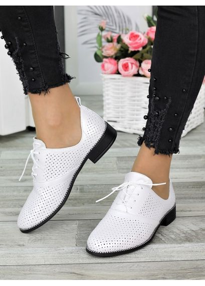 Туфлі шкіряні молоко (літо) Евелін 7301-28