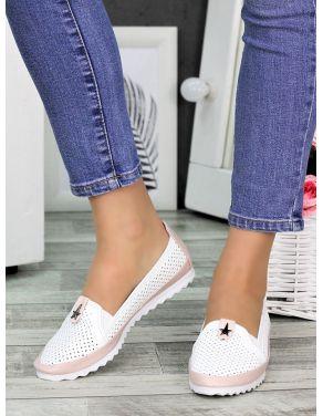 Туфлі мокасини літні шкіряні 7326-28