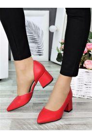 Туфли лодочки красная кожа Laura 7328-28