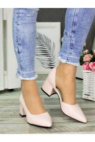 Туфли лодочки пудра кожа Laura 7329-28