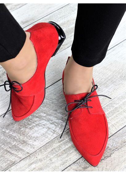 Туфлі лодочки червоні Kelly 7370-28