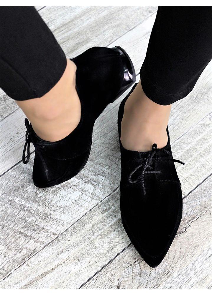 Туфли лодочки черная замша Kelly 7373-28
