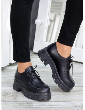 Туфлі броги чорна шкіра 7469-28
