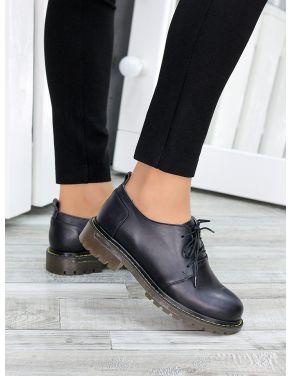 Туфлі оксфорди чорна шкіра 7470-28